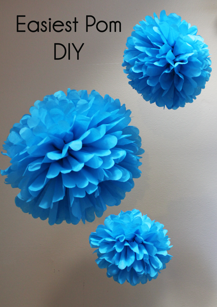 Easiest Pom DIY - Handmade Decor - The Flair ExchangeThe ...