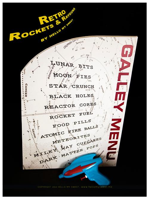 Retro Rocketships and Rayguns menu