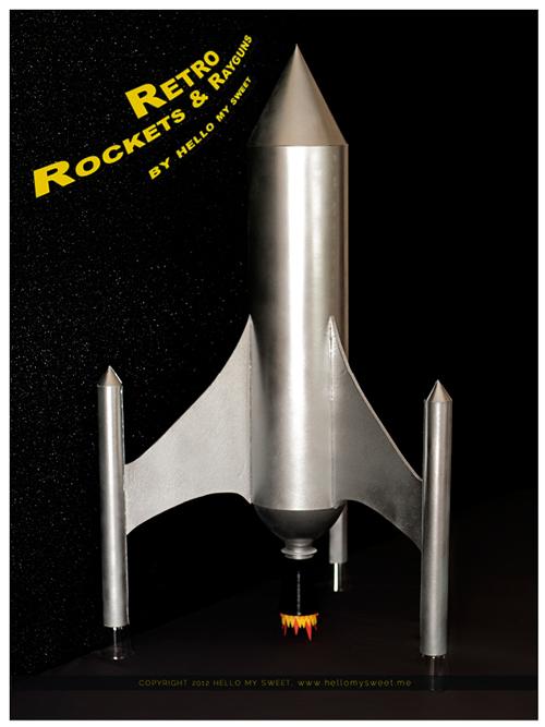 Retro Rocketships and Rayguns rocket model