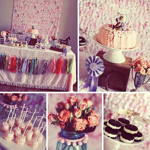 Customer Party Vintage Pony Birthday Party Handmade Decor The