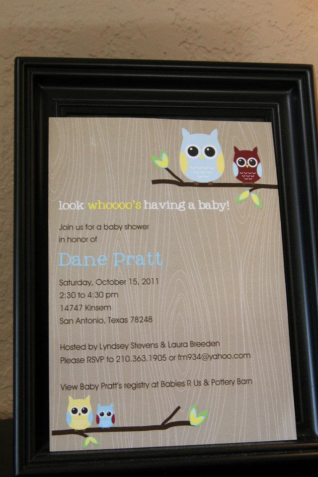 owl party invite