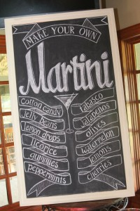Martinis for Mutts drink menu