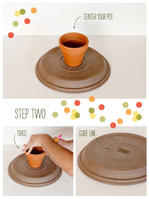 diy clay pot dessert stand