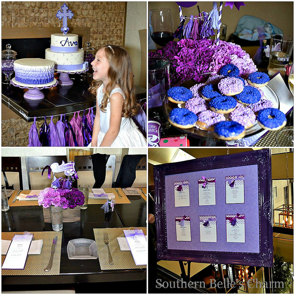 Purple Ombre Tassel Garland and Party Details