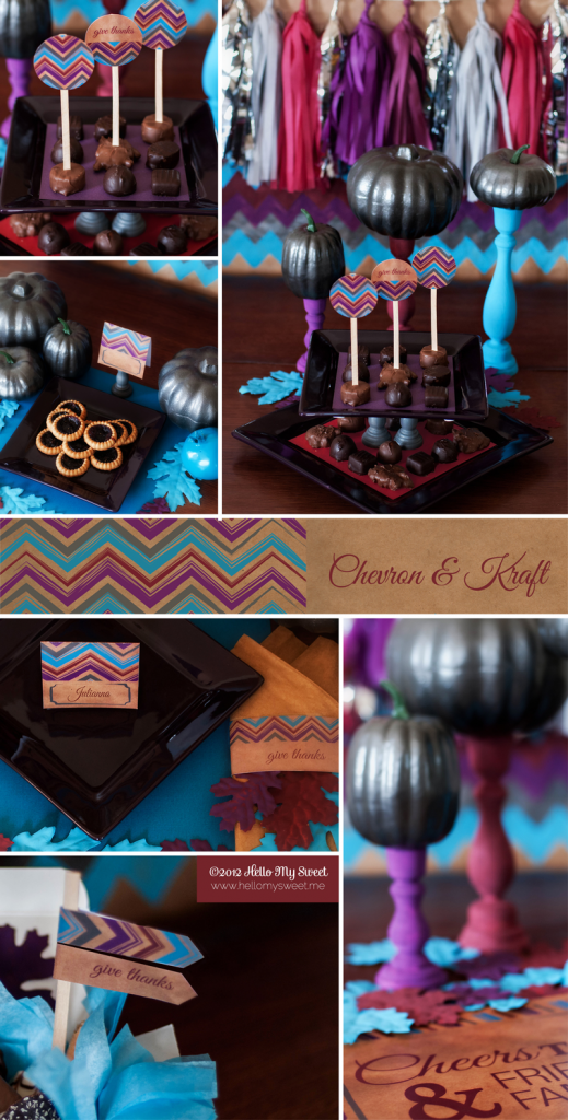 Chevron and Kraft Printables for Fall or Thanksgiving