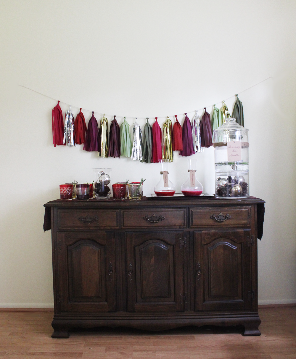 How To Set Up A Drink Station Handmade Decor The Flair