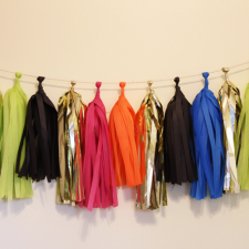 Tassel Garland – Neon and Black