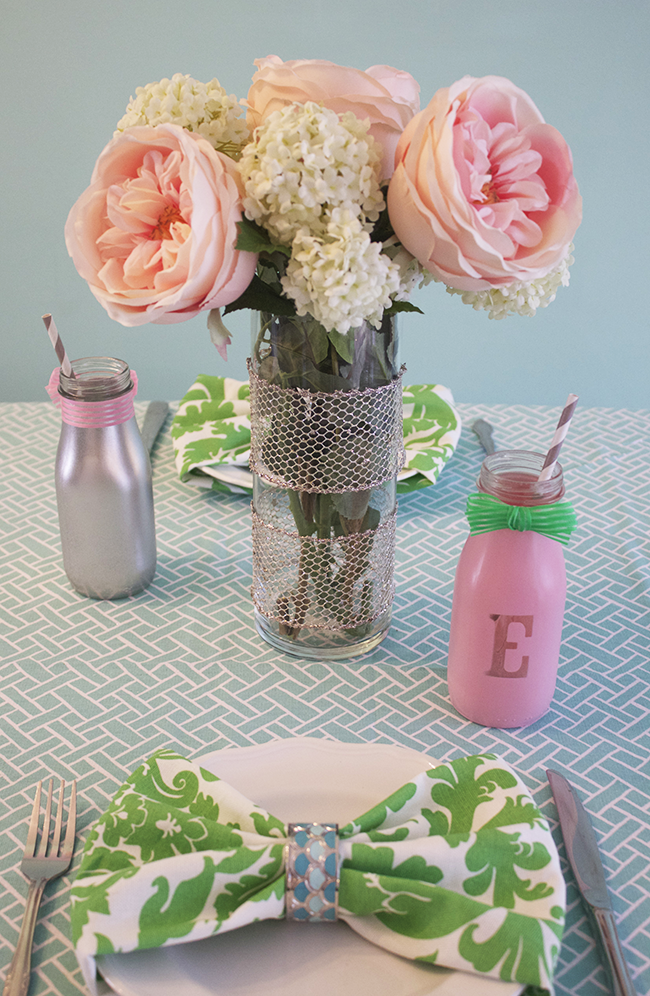 DIY Bottle Place Cards Table Setting