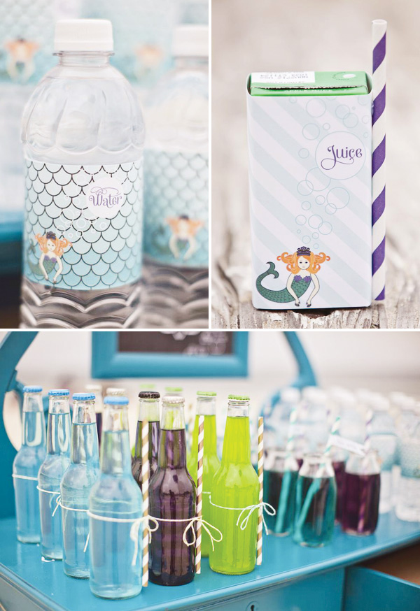 ombre-mermaid-beach-party-drinks