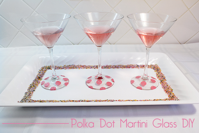 DIY Polka Dot Martini Glasses  10