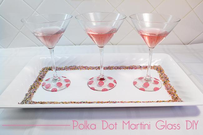 DIY Polka Dot Martini Glasses  10