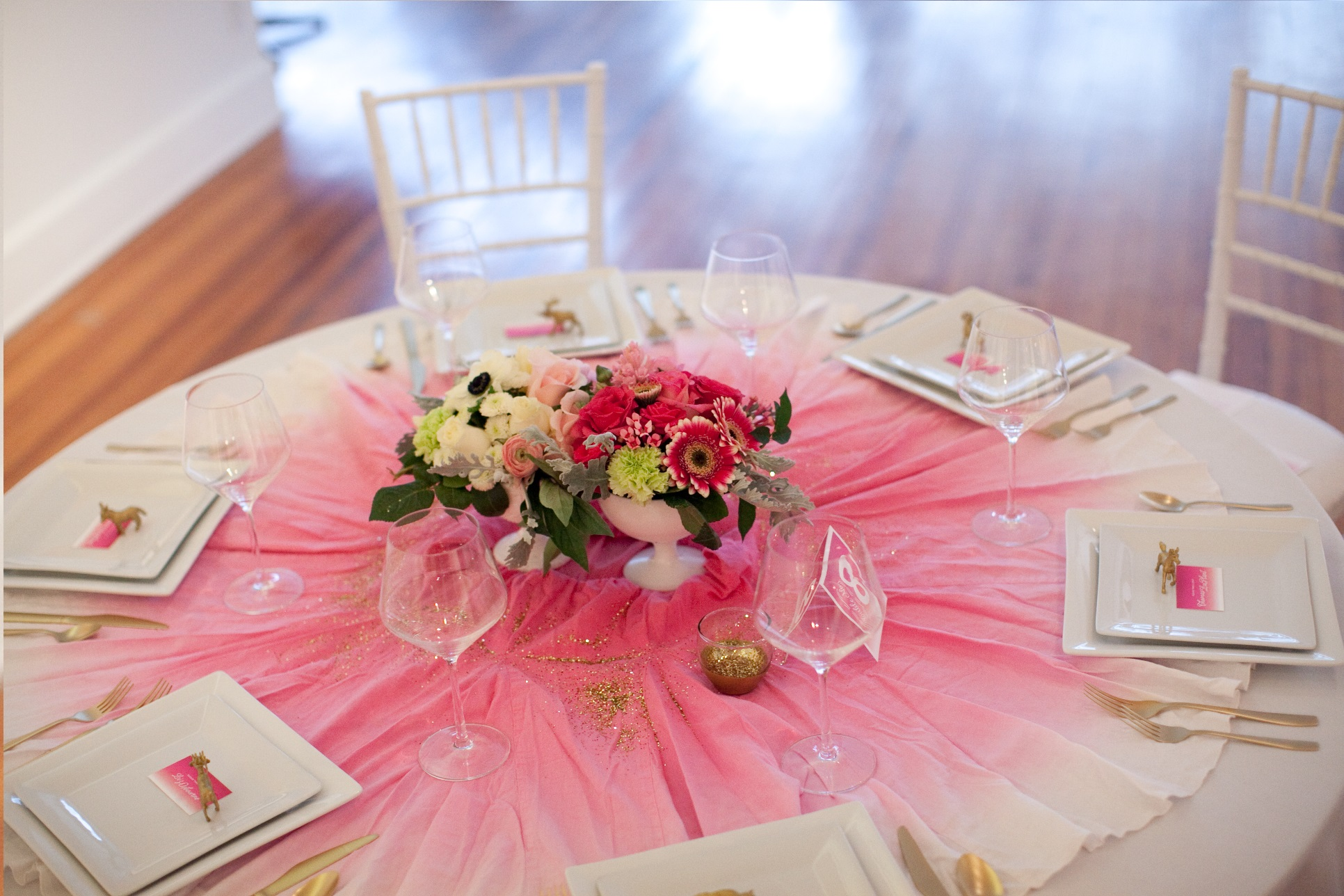 Customer Party Pink Ombre Wedding The Flair Exchange 174 The