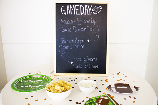 Football Game Day Menu 4