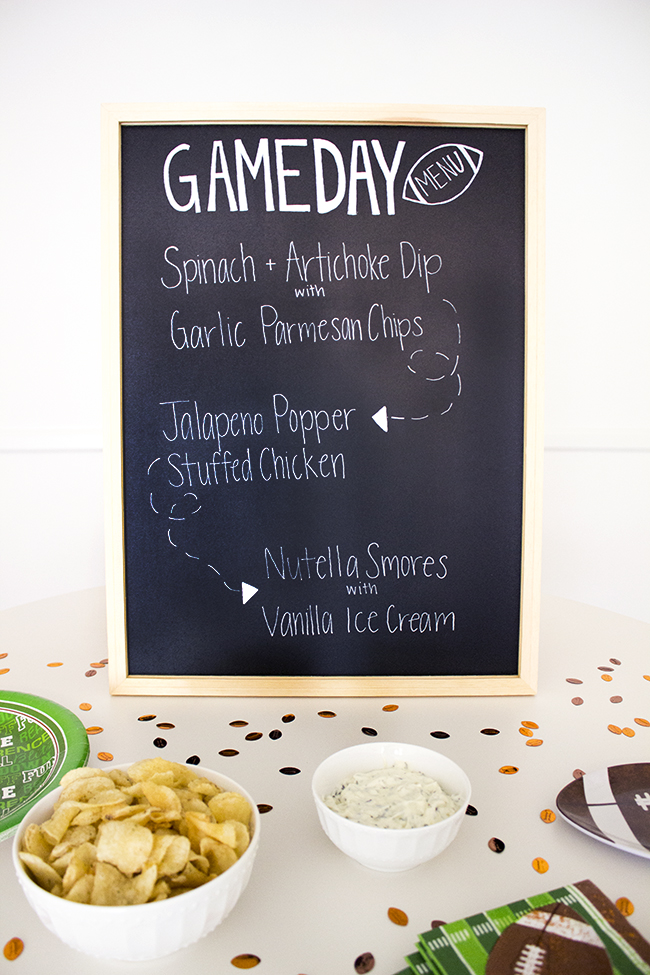 Football Game Day Menu 5