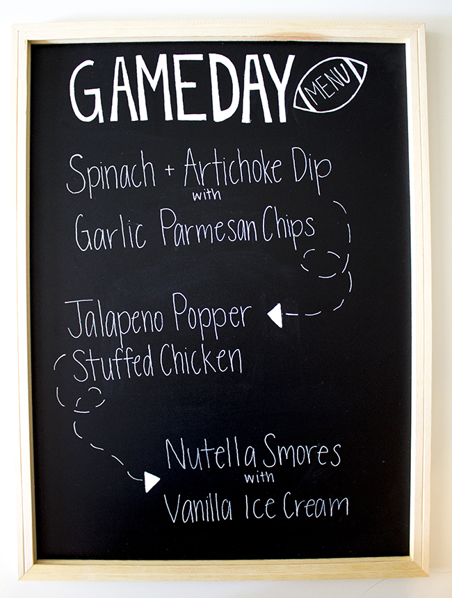 Football Game Day Menu DIY 3