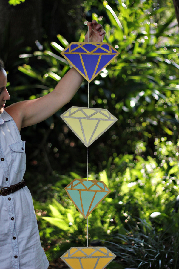 diamond diy garland