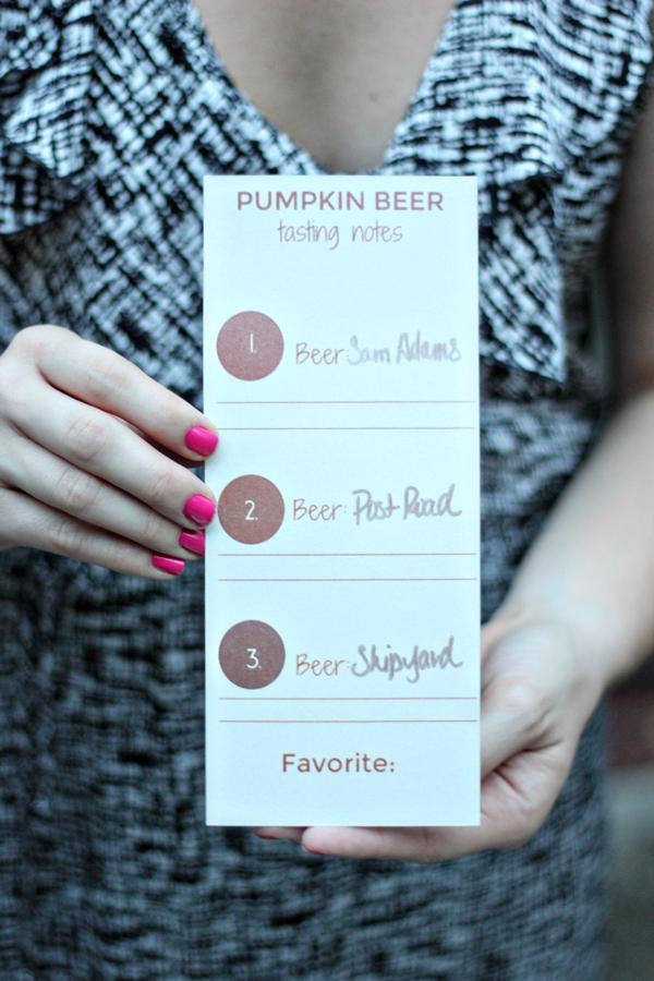 Pumpkin Beer Tasting Party