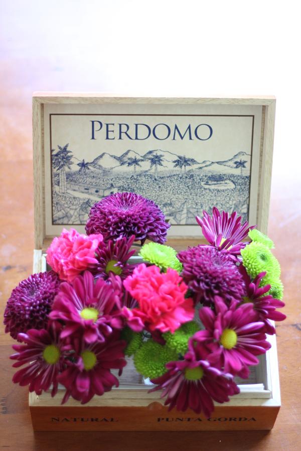Cigar Box Floral Arrangement DIY