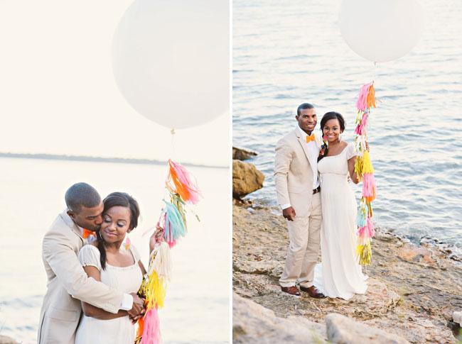 Neon Beach Wedding