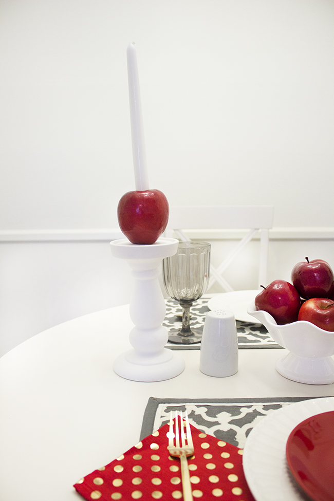 Apple Candlestick Holder DIY 2 | The Flair Exchange