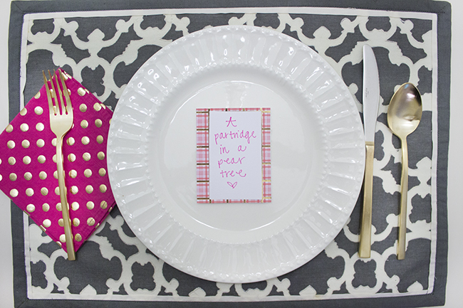Twelve Days of Christmas Advent Calendar DIY | The Flair Exchange | Place Setting
