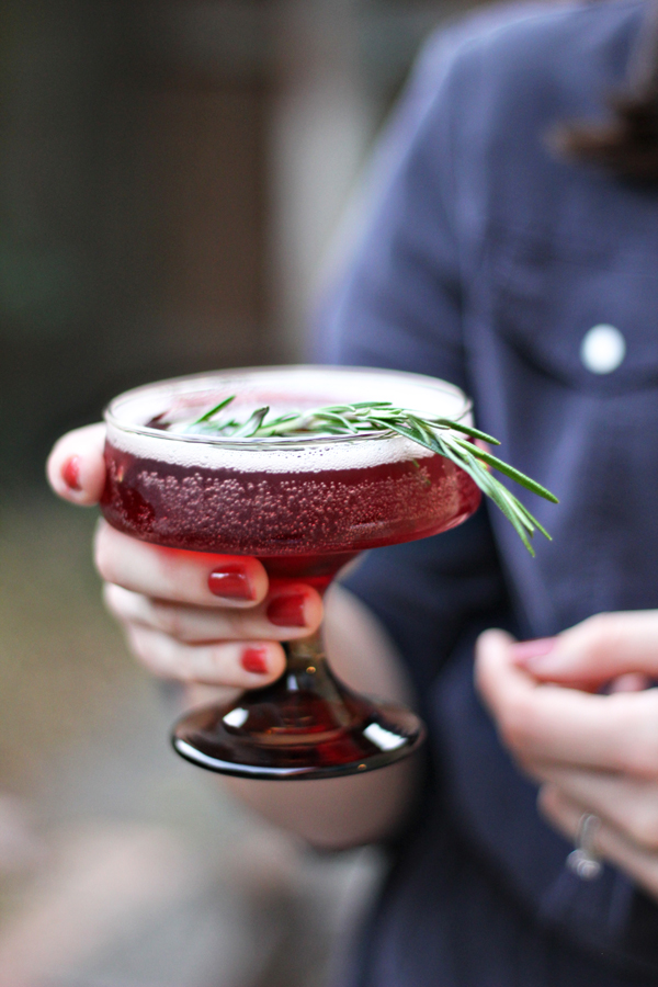 Rosemary Infused Holiday Cocktail