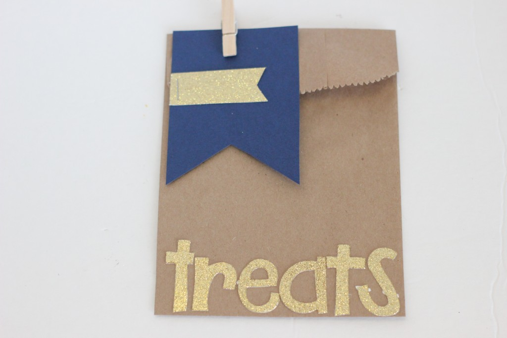 Gold and Navy Treat Bag