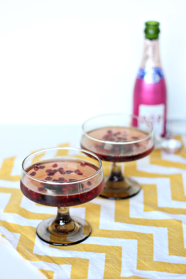 Pomegranante Champagne Cocktail