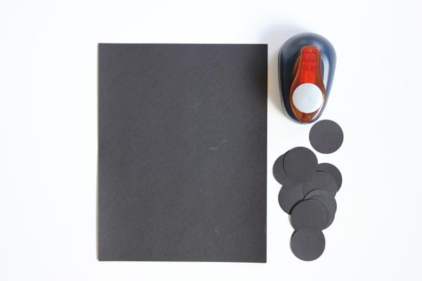 Black  Glittery Geometric Garland DIY The Flair Exchange®The