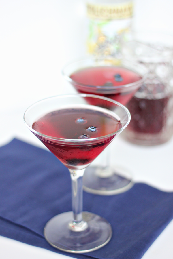 Blueberry Vanilla Martini Recipe