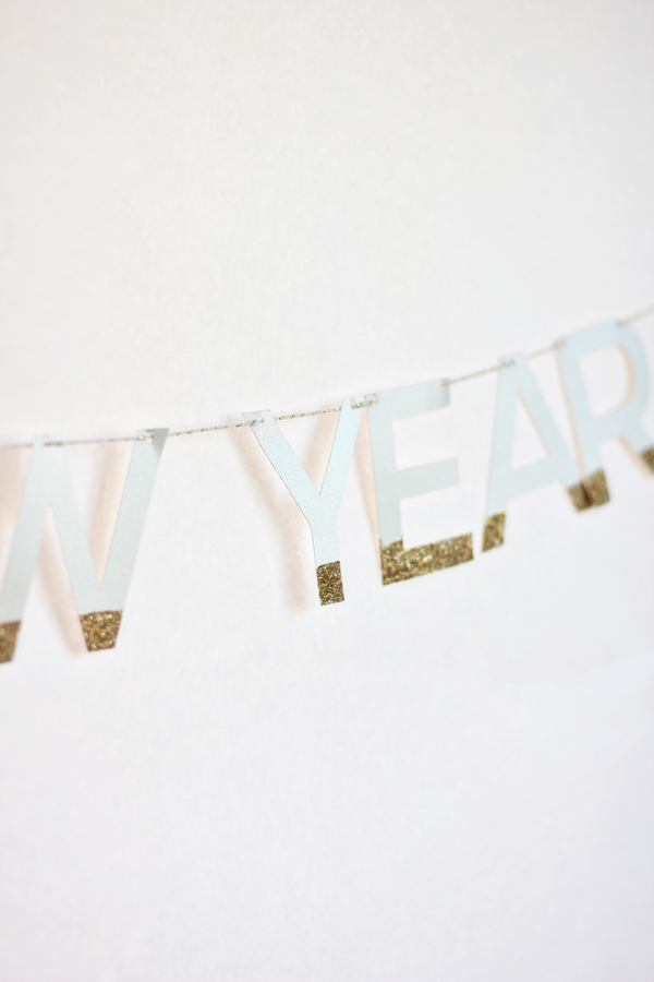 Glitter Dipped New Year Bunting
