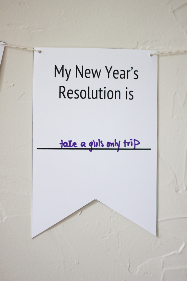 Printable New Year's Resolution Banner