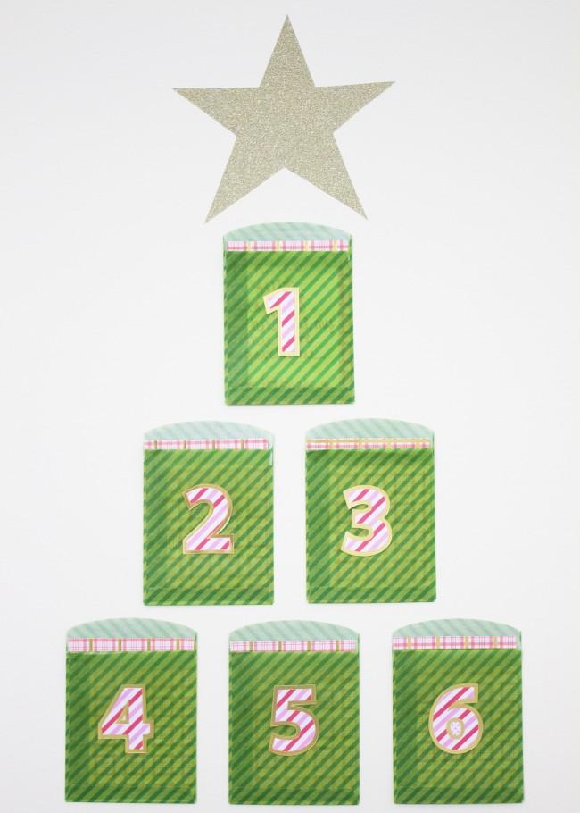 Twelve Days of Christmas Escort Card Display DIY | The Flair Exchange | Christmas Tree