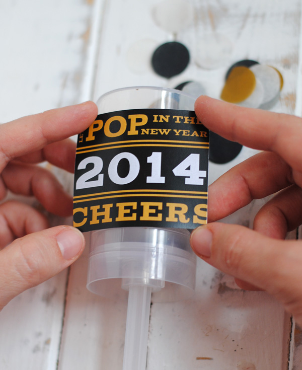 New Year's Eve Confetti Poppers