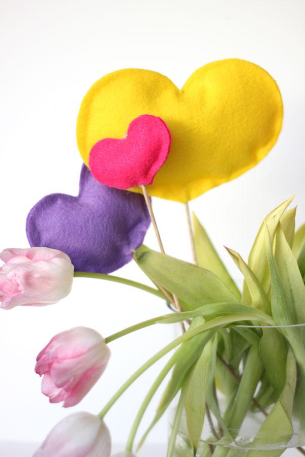 Fluffy Heart Floral Embellishment DIY