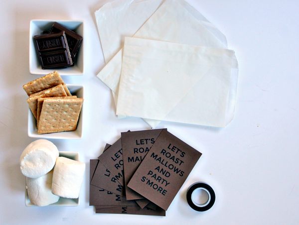 S'mores Treat Bag Tag DIY