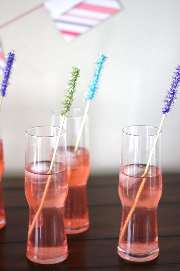 drinSparkly Cocktail Swizzle Stick DIY