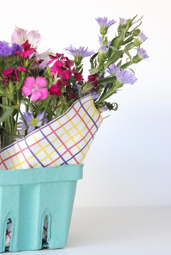 Berry Basket Floral Arrangement Tutorial