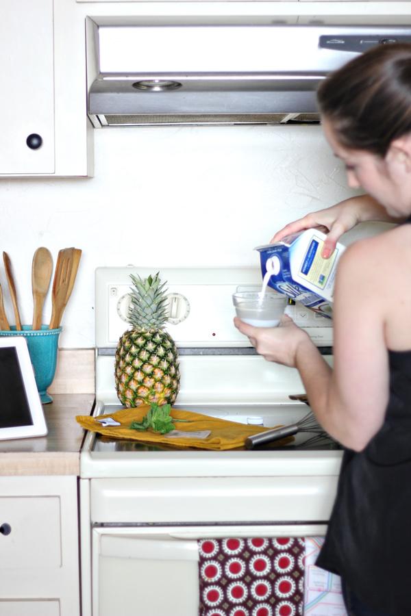 Pineapple Mint Panna Cotta Recipe