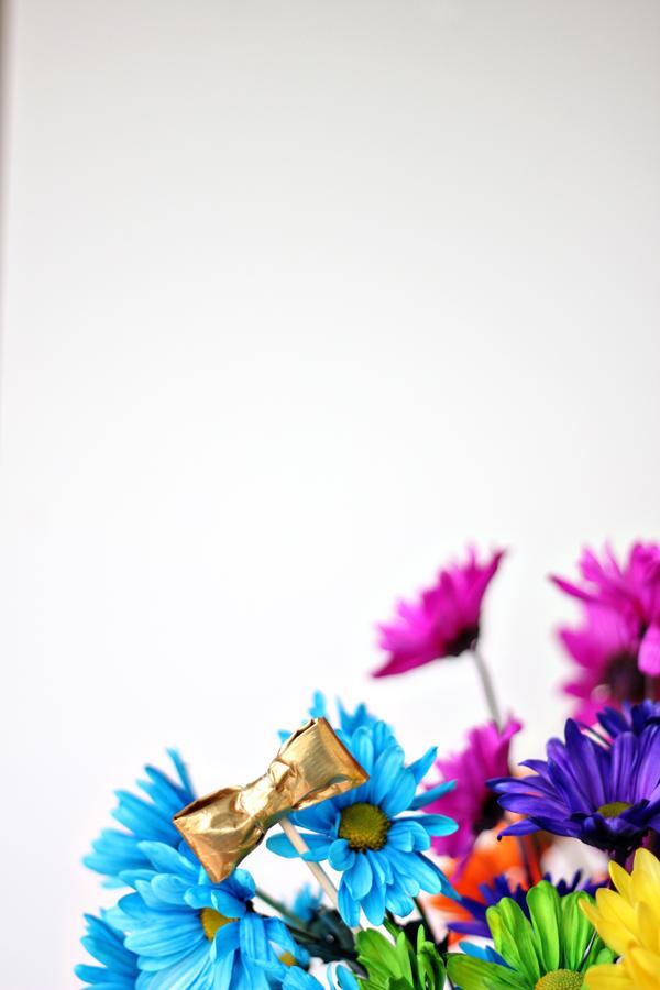 Rainbow Floral Arrangement DIY