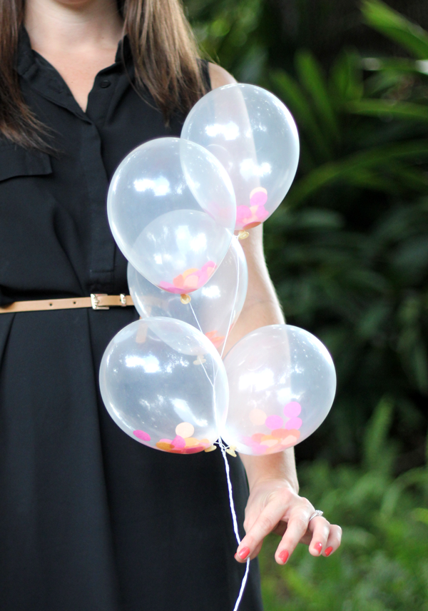 diy mini confetti filled balloons the flair exchange174the