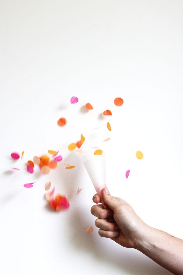 Confetti-Toss Cone DIY