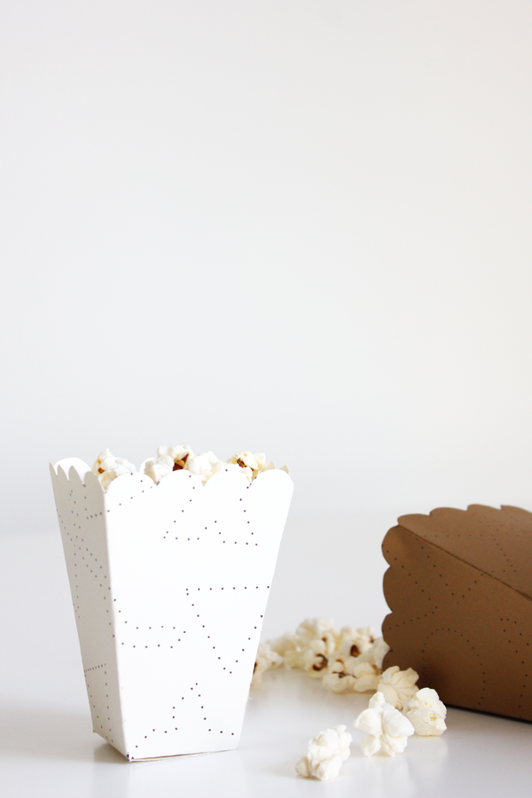 Popcornboxwhite on Diy Cupcake Box