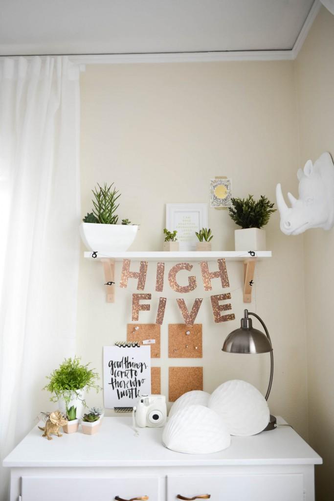 DIY Glitter Letter Banner