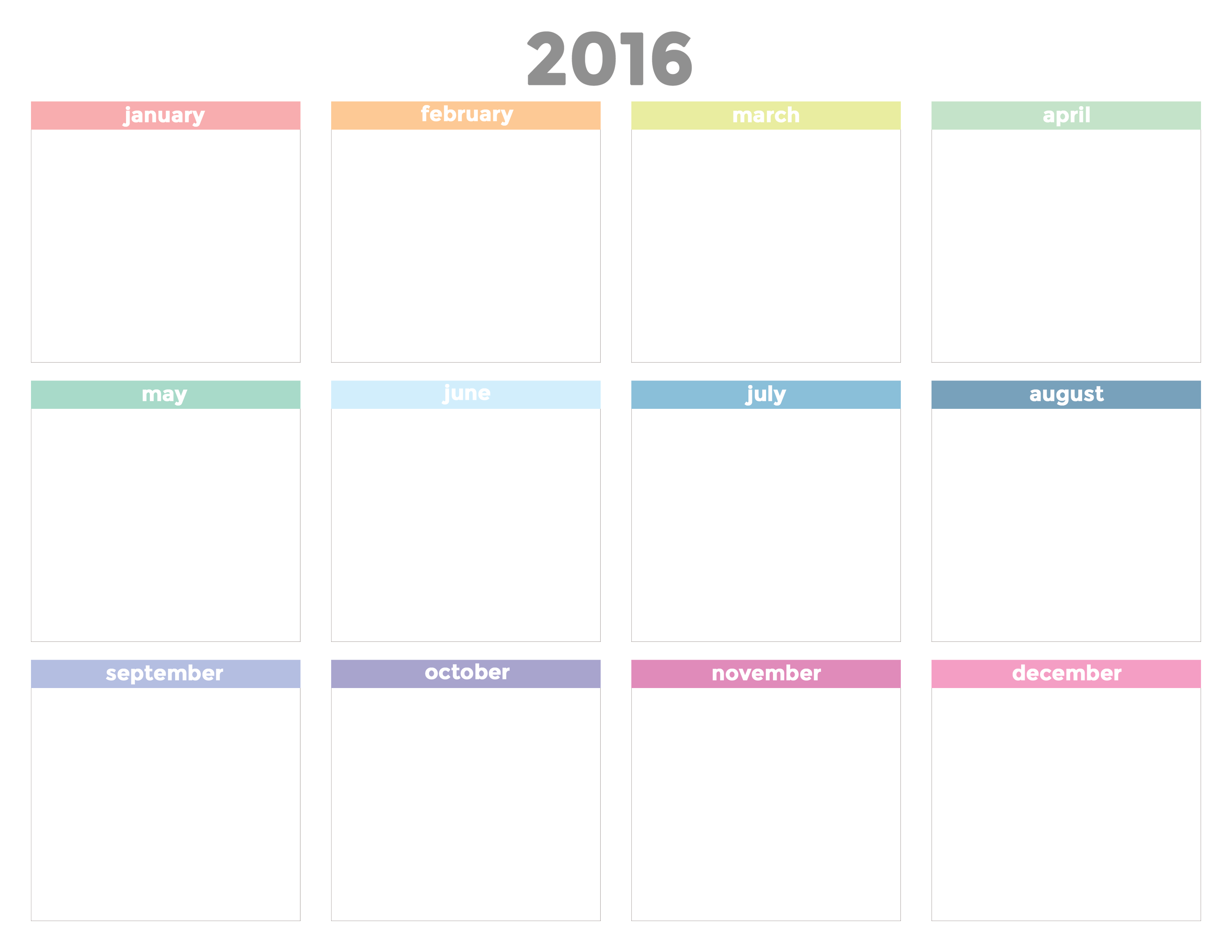 Printable 2016 Calendar And Cute Office Ideas | The Flair Exchange ...