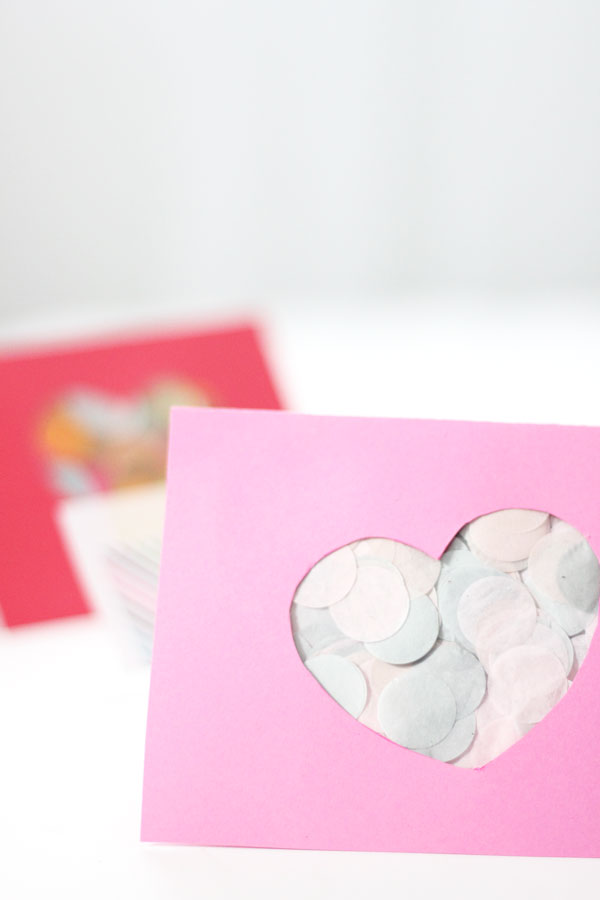 Confetti Cut Out Valentines Day Card The Flair Exchange