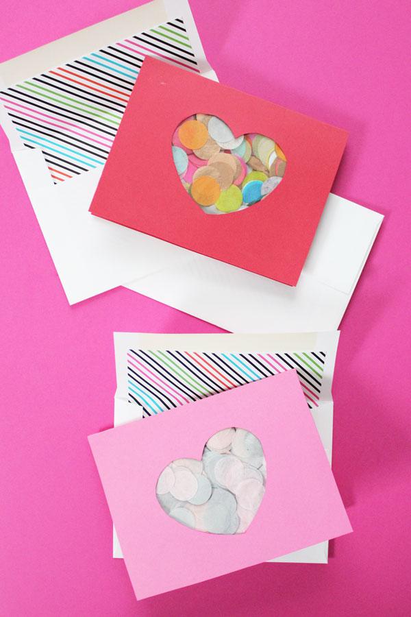 Confetti Cut Out Valentine's Day Card