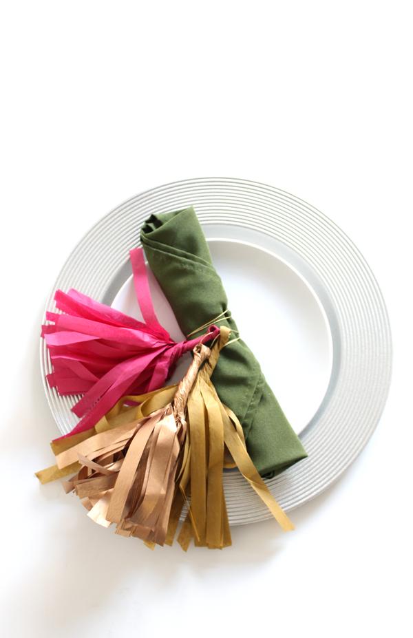 Mini Tassel Flatware Wrap Tutorial The Flair Exchange